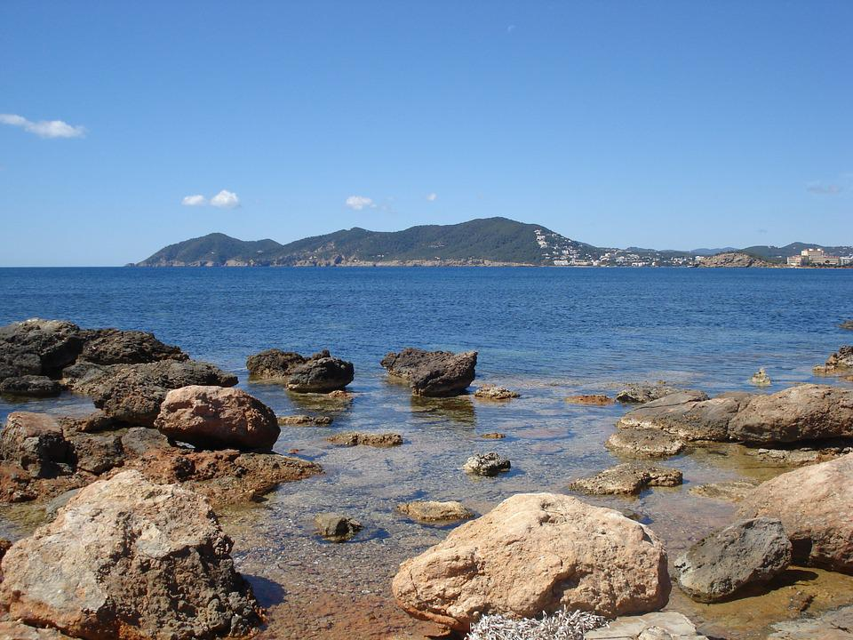 Ibiza, Sea, Landscape, Rocks, Holiday, Beach, Island