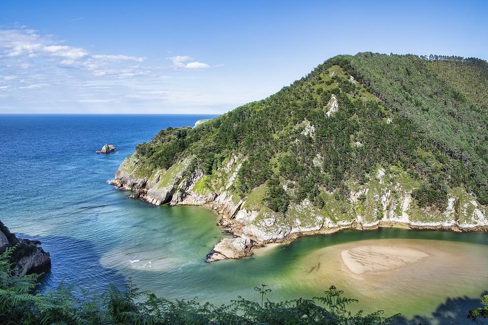 Sea, Ocean, Rocks, Island, Shore, Coast, Suances