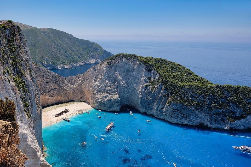 Beach, Sea, Island, Summer, Vacations, Shipwreck, Bay