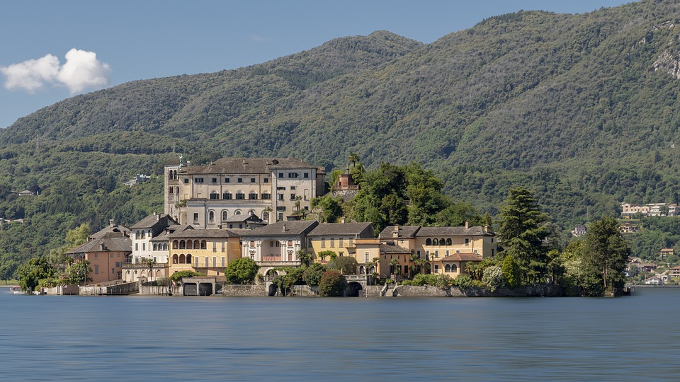 Lake, Orta, Italy, San Giulio, Island, Tourism, Cusio