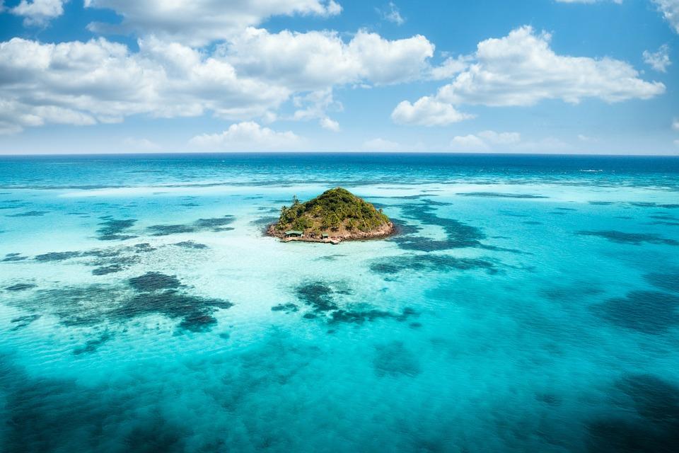 Tropical, Island, Blue, Ocean, Beach, Travel, Paradise
