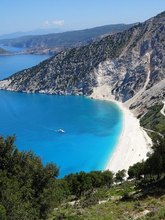 Greece, Island, Sea, Bay, Turquoise, Coast, Summer