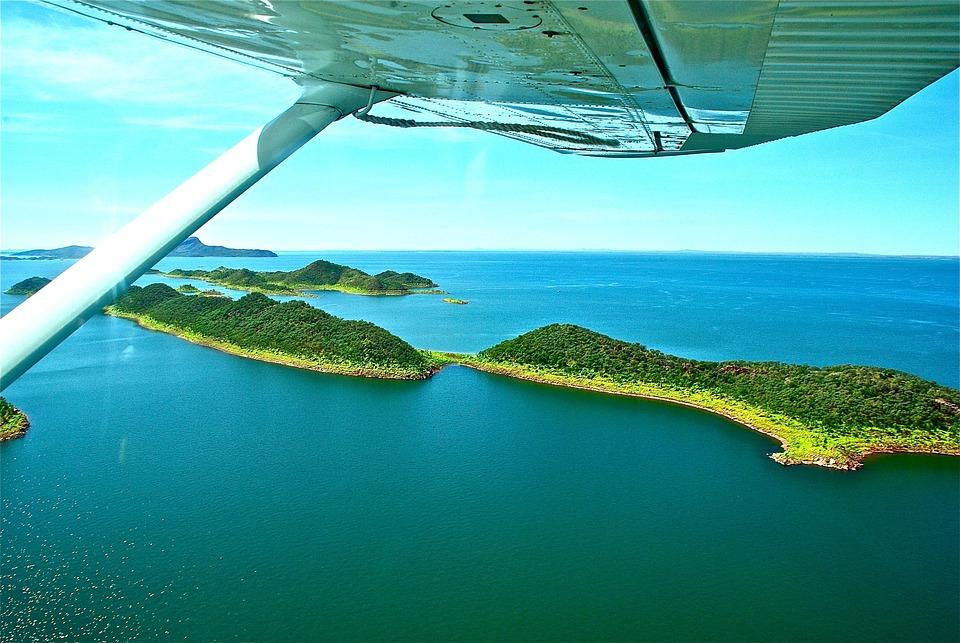 Australia, Flight, Islands, Sea, Ocean, Nature, Blue