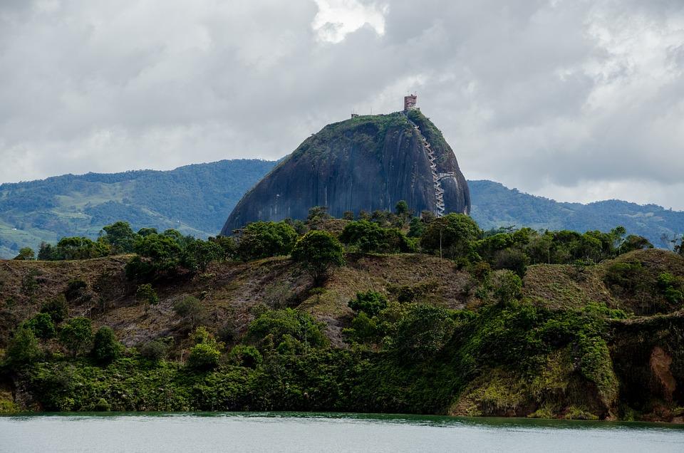 Colombia, Guatape, Lake, Reservoir, Islands, Tourism