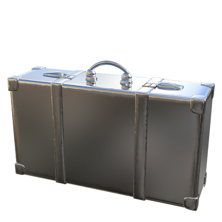 Luggage, Metal, Isloiert, Isolated