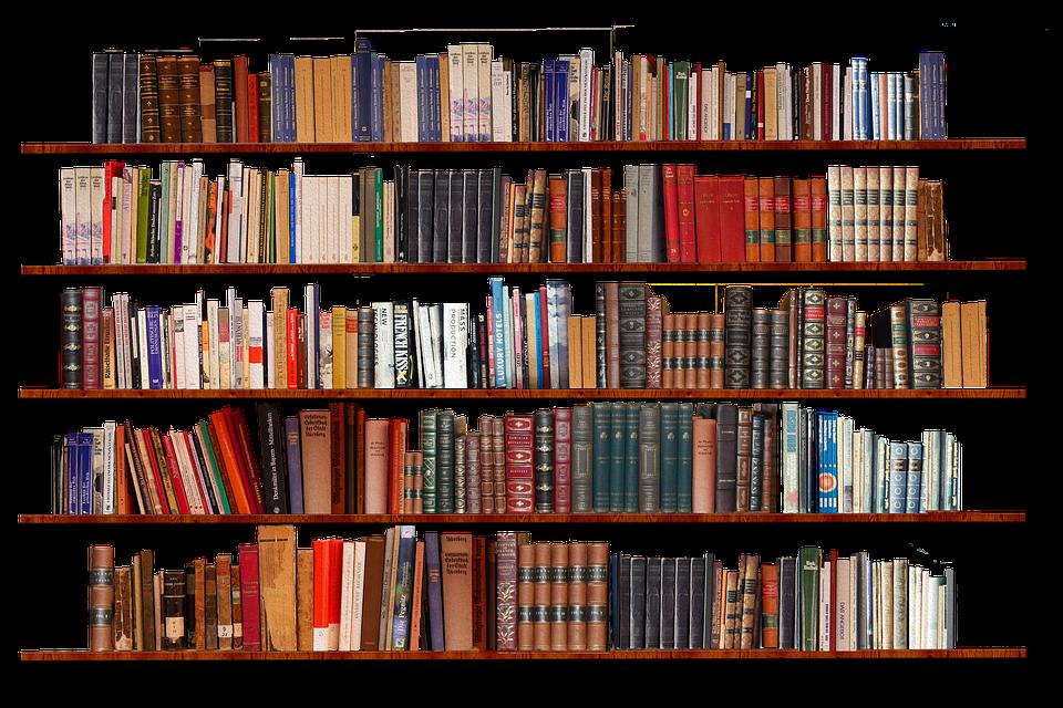 Bookshelf, Isolated, Transparent Background, Books