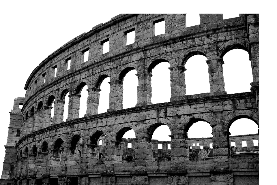 Psd, Isolated, Colosseum, Rome, Building, Romans