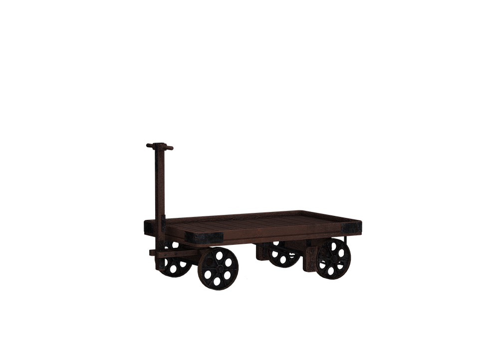 Dare, Cart, Wooden Barrow, Digital Art, Isolated, Png
