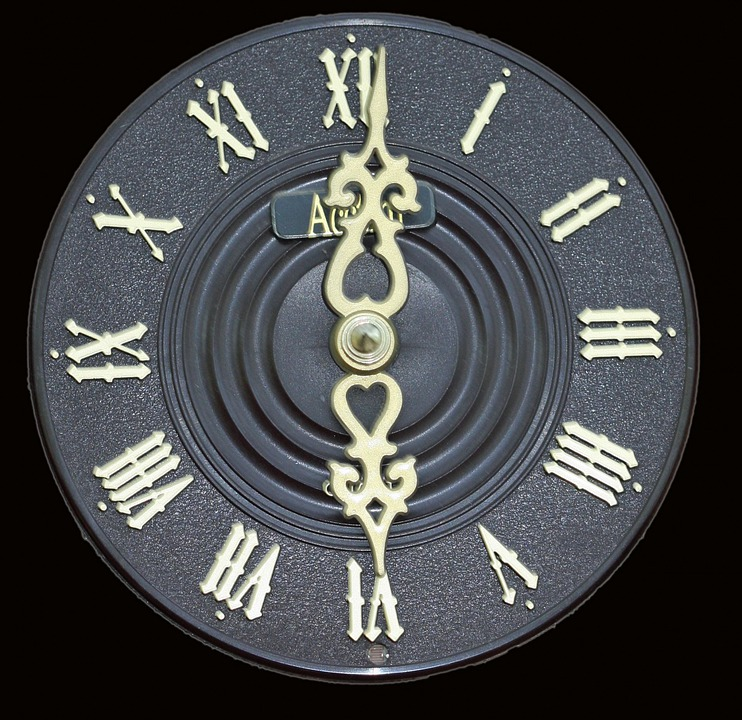 Clock, Face, Dial, Close-up, Roman Numerals, Isolated