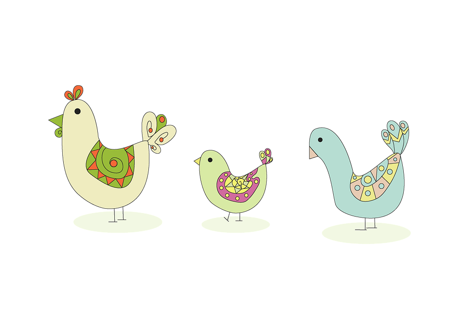 Easter Birds, Transparent, Isolated, Easter, Chickens