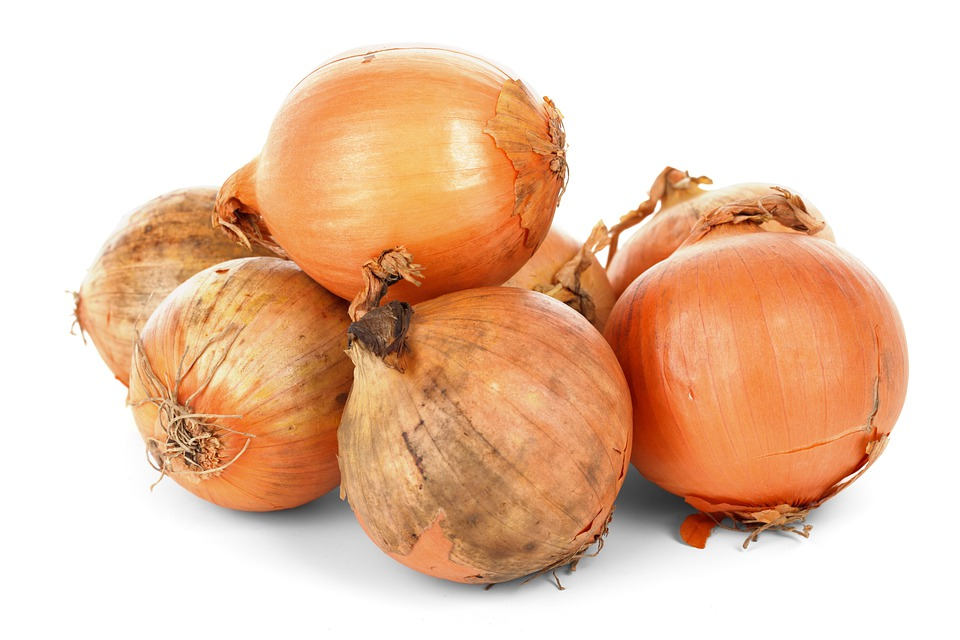 Onion Bulbs, Food, Fresh, Healthy, Ingredient, Isolated