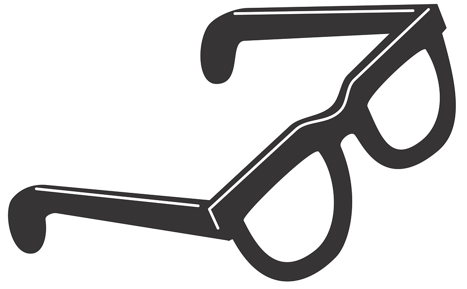Isolated, Steel, Vision, Geek, Glasses, See, Stamp