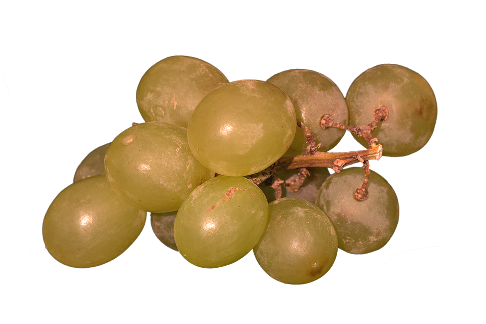 Grapes, Isolated, Yellow