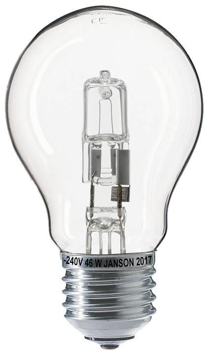 Light Bulb Halogen Lamp Bulbs Isolated