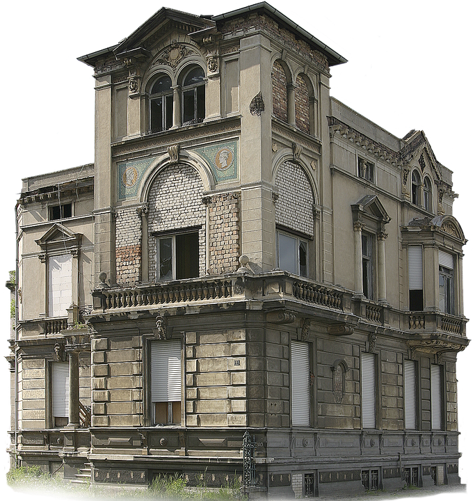 Home, Building, Old, Villa, Real Estate, Isolated