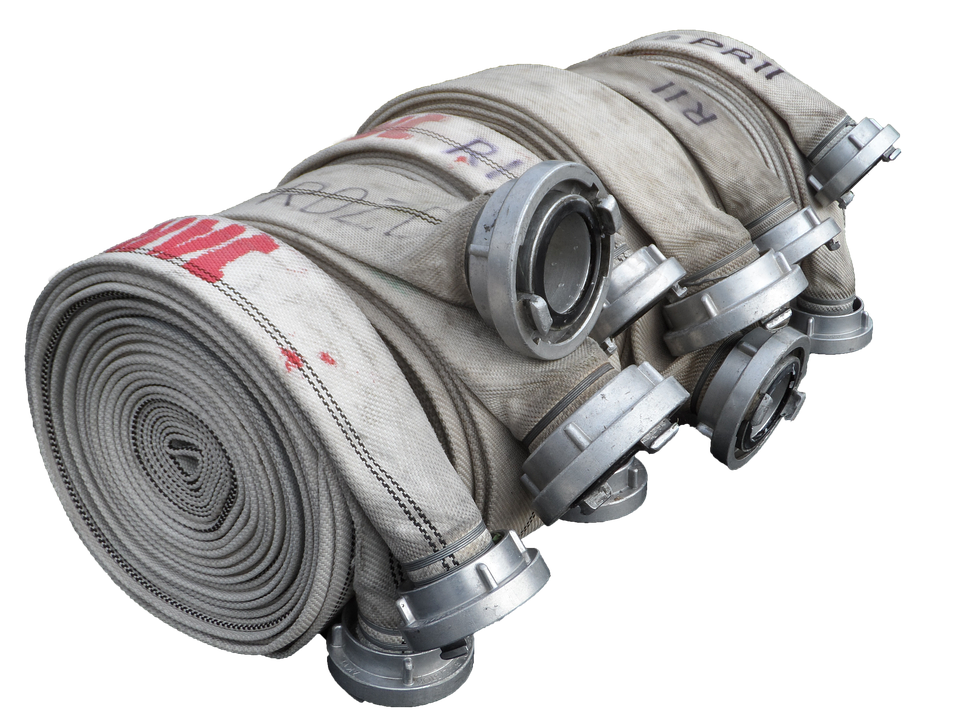Fire Hose, B-hose, Isolated, Hose, Fire, Water, Delete