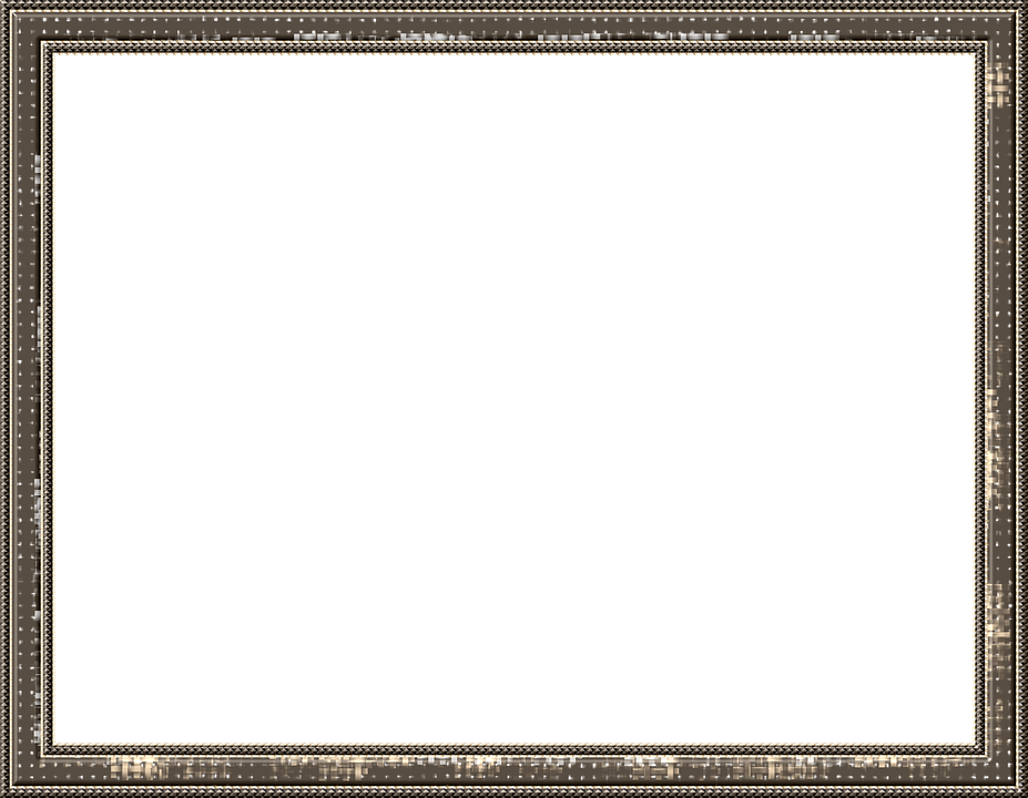 Frame, Outline, Picture Frame, Brown, Pattern, Isolated