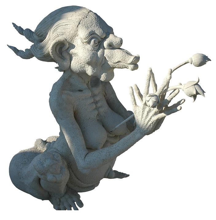 Stone Figure, Sculpture, Isolated