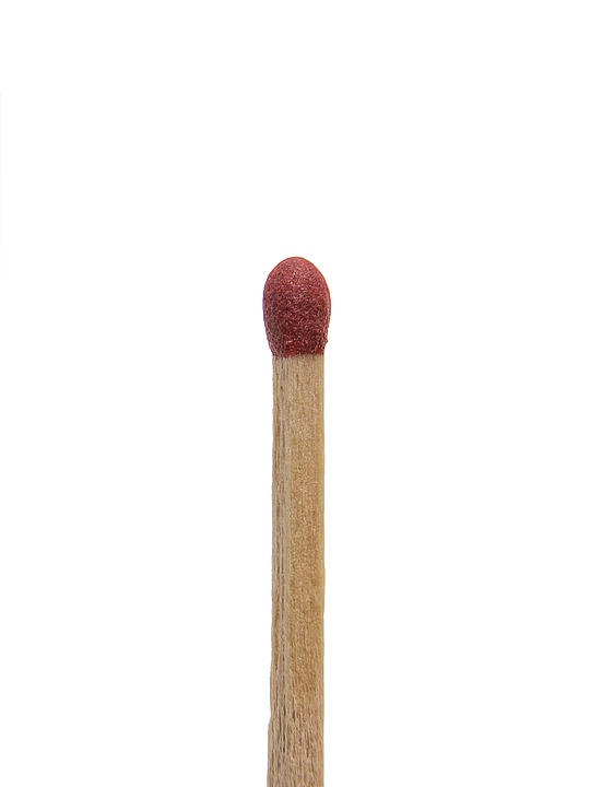 Match, Stick, Matchstick, Isolated, Wood, Flammable