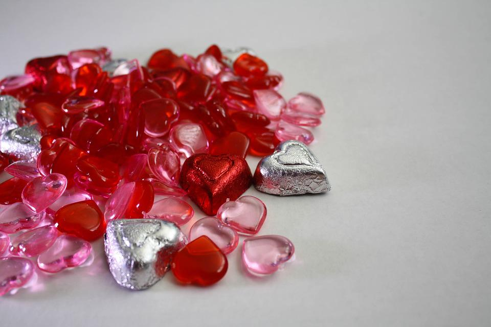 Red, Isolated, Glass, Gem, White, Crystal, Jewelry