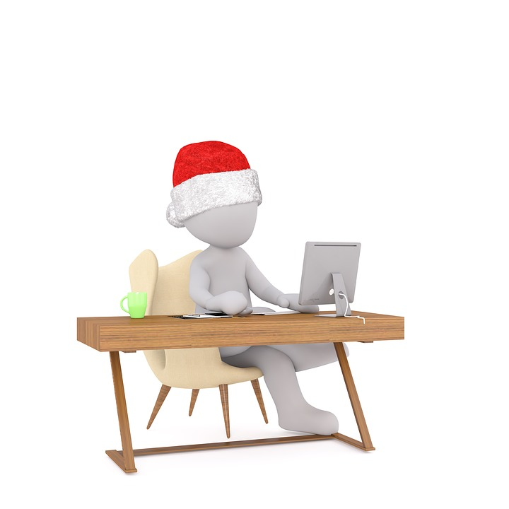 White Male, White, Fig, Isolated, Christmas, 3d Model