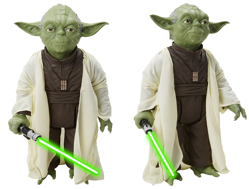 Figure, Star Wars, Isolated, Yoda, Film, Lightsaber