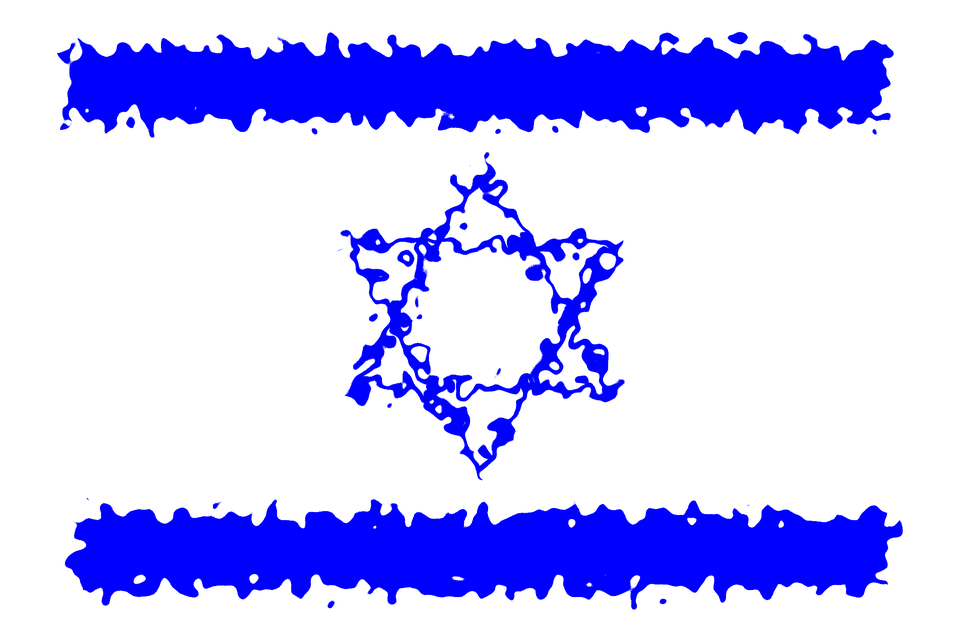 Flags, Israel, Blue, Country