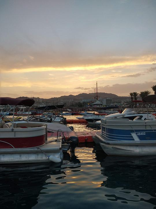 Eilat, Israel, Boat, Boats, Landscape, Sea, Red Sea