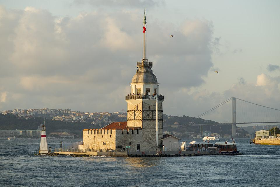 Maiden's Tower Kiz Kulesi, Istanbul, Bosphorus, Throat