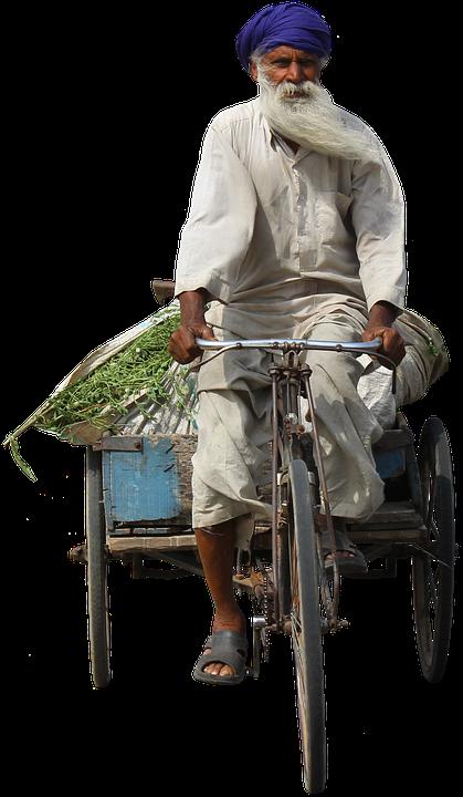 Old Man, Bike, Farmer, Middle East, Istanbul, Israel