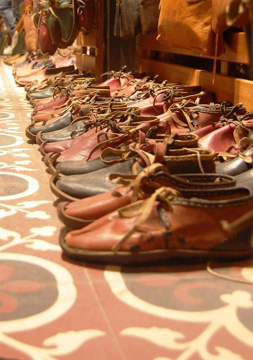 Shoes, Brown, Tiles, Shop, Istanbul