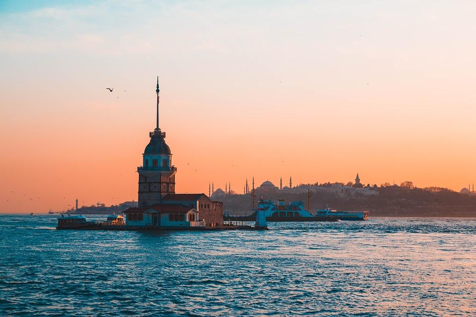 Kizkulesi, Uskudar, Turkey, Istanbul, üsküdar, Beach