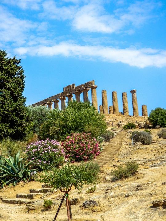 Monument, Greek Temple, Agrigento, Sicily, Italia