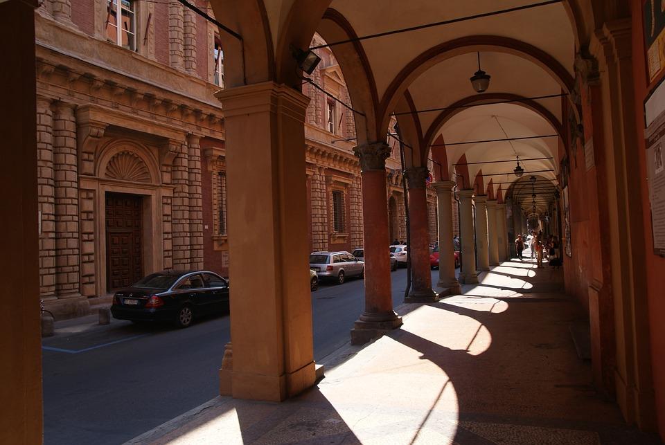 Bologna, Italy, Italia, Arcades, Arcade, Architecture