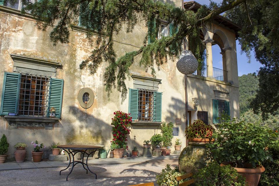Garden, Italy, Italian, Building, Ancient, Tuscany