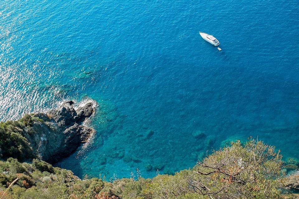 Sea, Mediterranean, Italian Coast, Water, Emerald, Boat