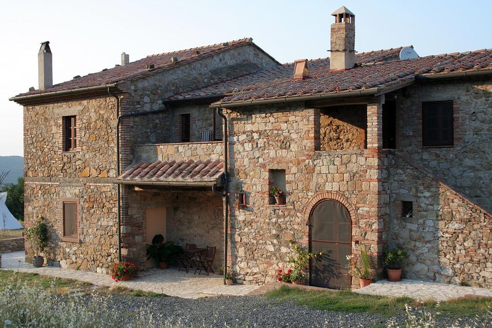 House, Italy, Old, Stone House, Italian, Tuscany, Stone