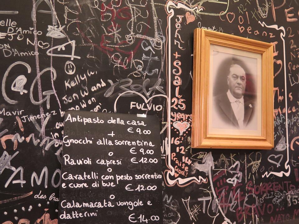 menus italian restaurant chalkboard menu board