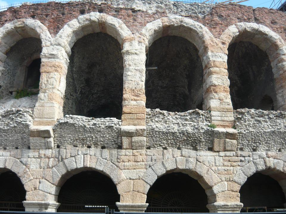Amphitheater, Verona, Italian, Italy, Building, Art
