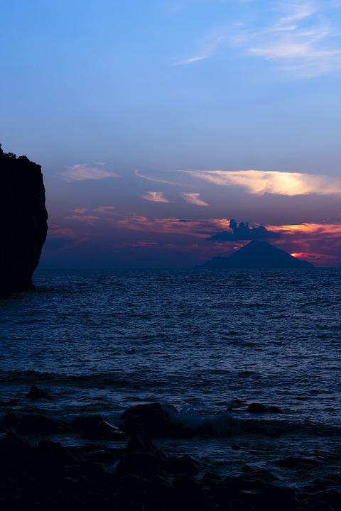 Aeolian Islands, Sicily, Italy, Holiday, Sunset, Trip
