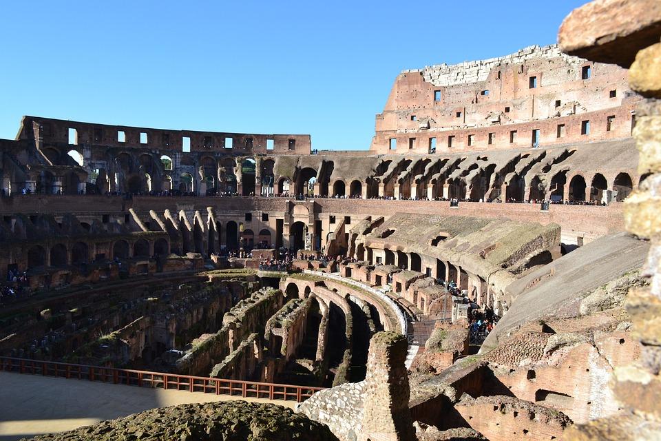 Coliseum, Rome, Italy, Arena, Antique