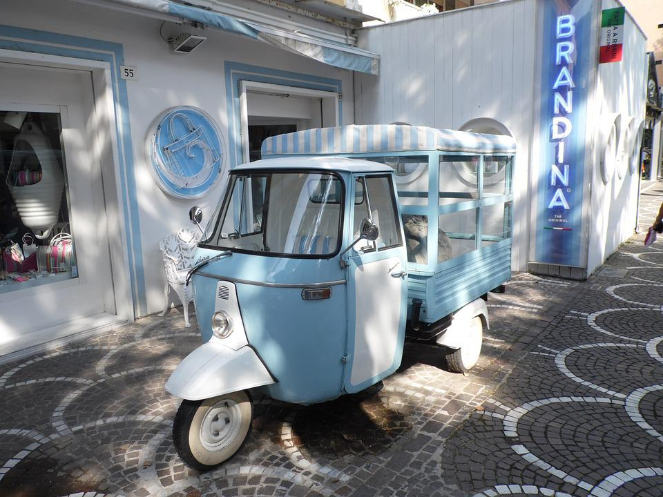 Italy, Ape, Transport