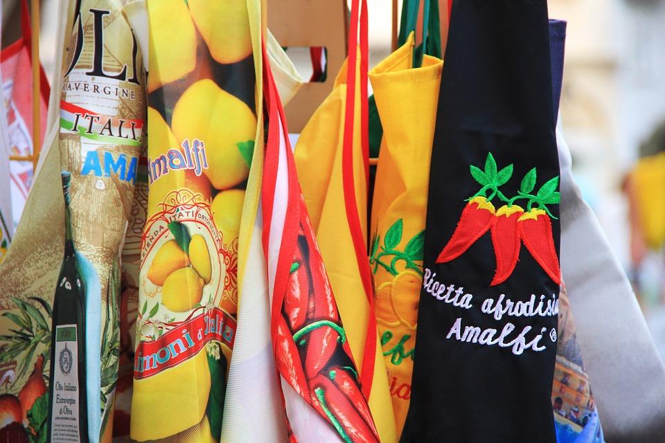 Amalfi, Italy, Holiday, Apron, Colorful, Summer