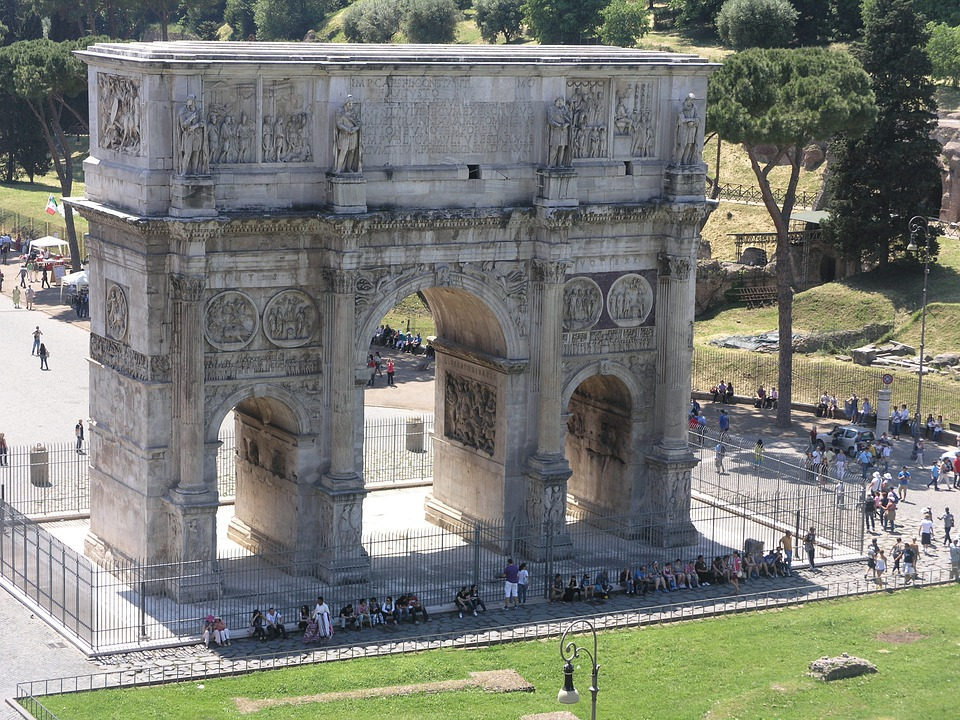 Arch Of Constantine, Rome, Arch, Italy, Landmark