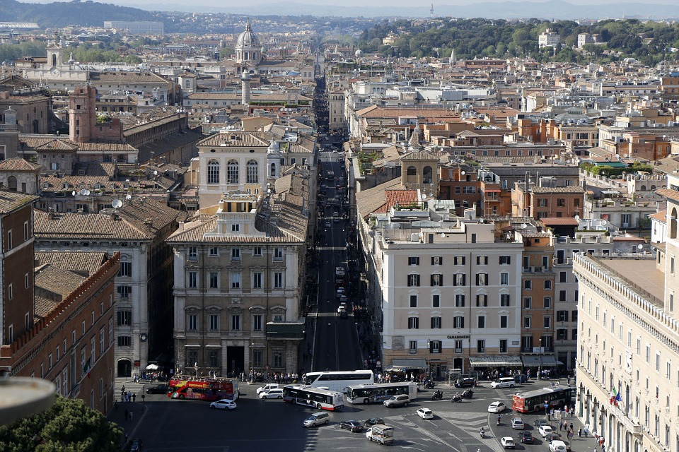 Rome, Architecture, Building, Road, City, Italy