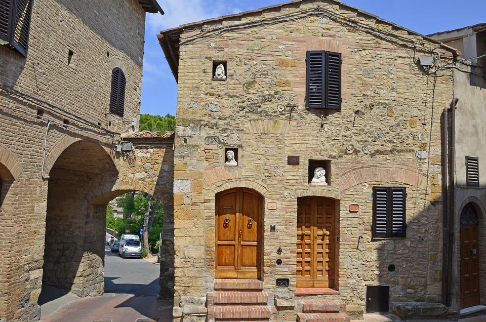 Tuscany, San Gimignano, Italy, Architecture