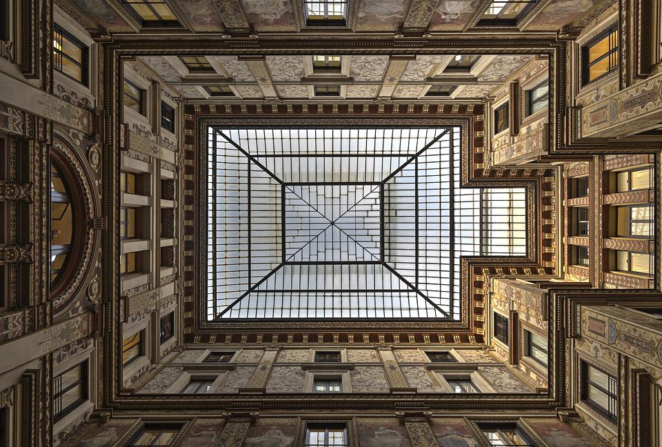 Rome, Architecture, Italy, Europe, Square, Roof, Glass