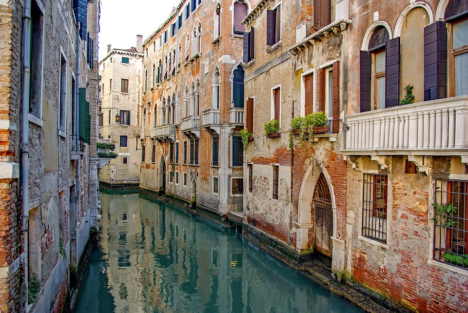 Italy, Venice, Canal, Architecture