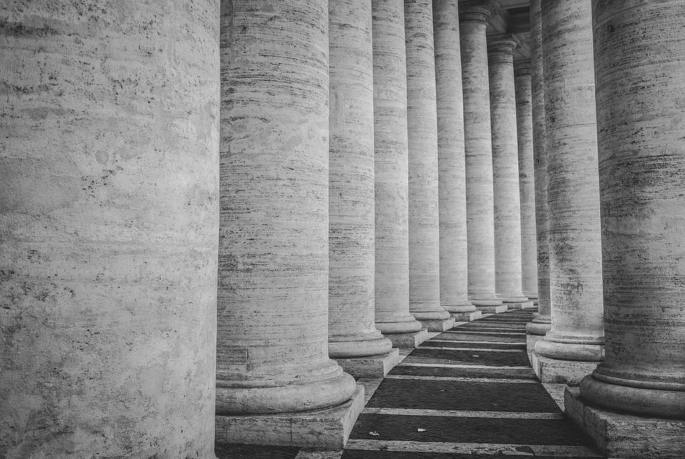 Columns, Basilica, Church, Architecture, Italy, Europe