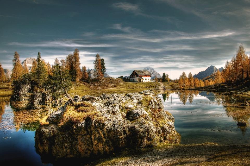 Bergsee, Dolomites, Alpine, Landscape, Italy, Alm